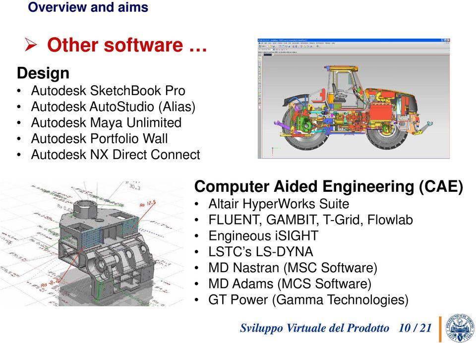 Altair HyperWorks Suite FLUENT, GAMBIT, T-Grid, Flowlab Engineous isight LSTC s LS-DYNA MD
