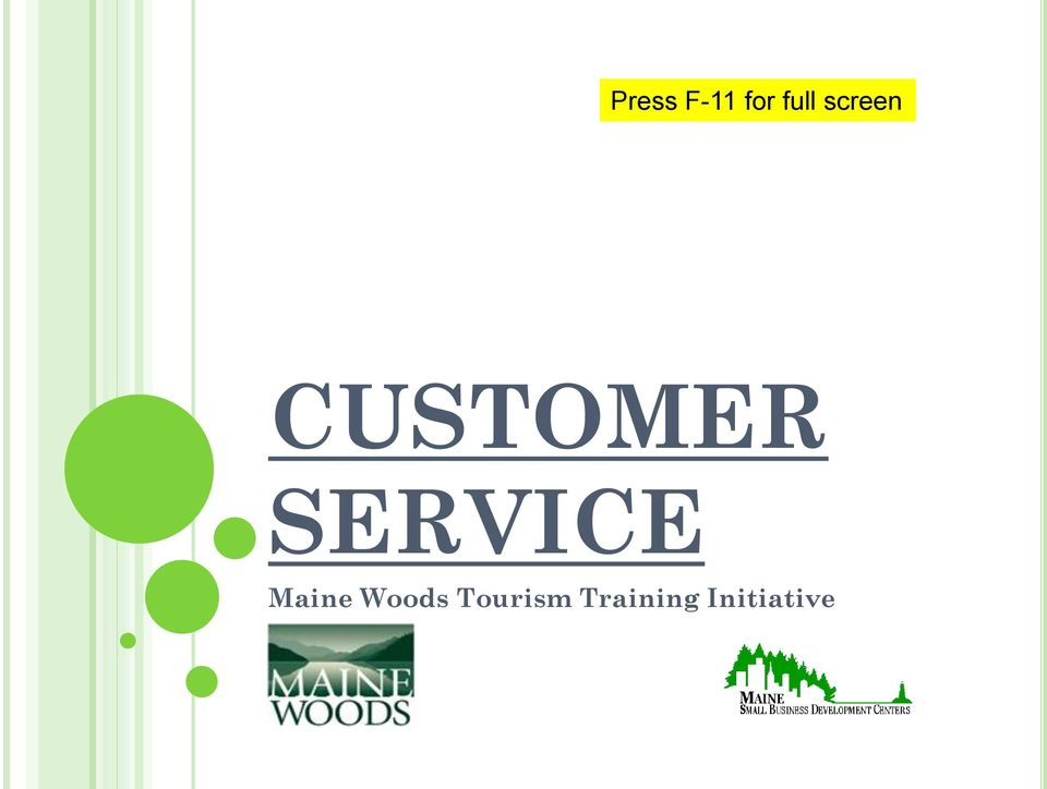SERVICE Maine Woods
