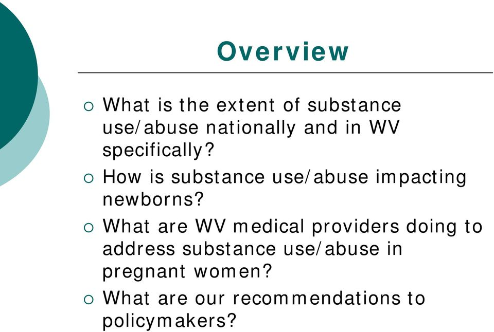 What are WV medical providers doing to address substance
