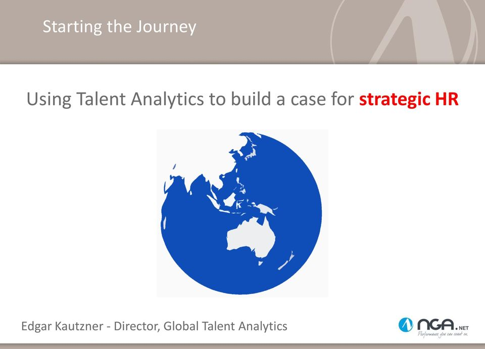 case for strategic HR Edgar
