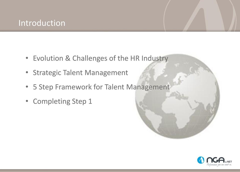 Strategic Talent Management 5 Step