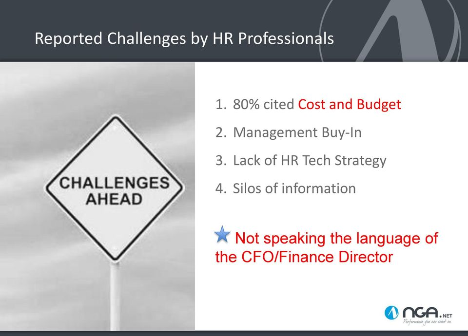 Lack of HR Tech Strategy 4.