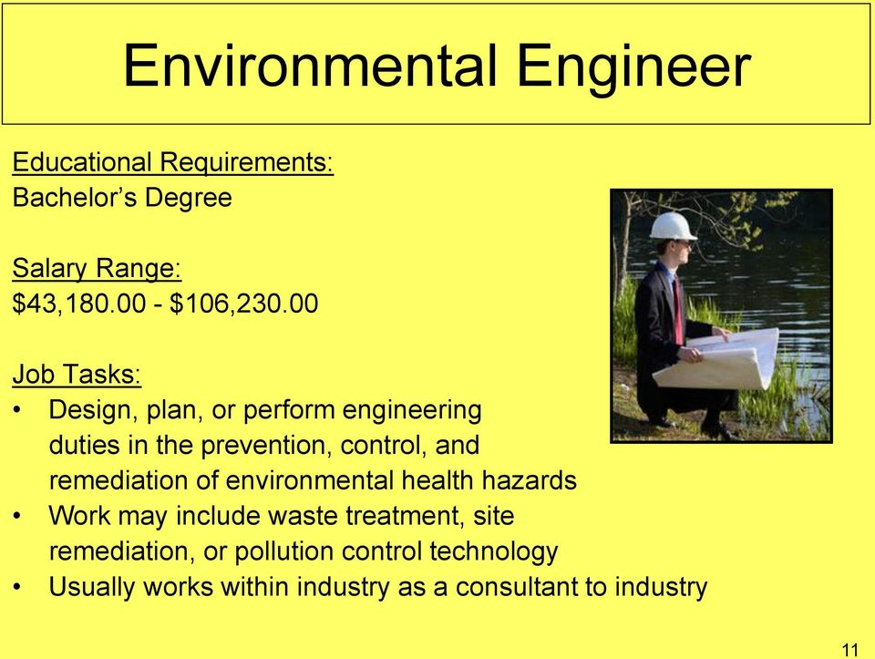 00 Job Tasks: Design, plan, or perform engineering duties in the prevention, control, and