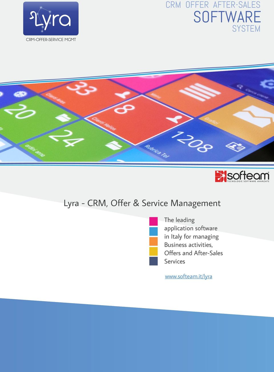 leading application software in Italy for managing