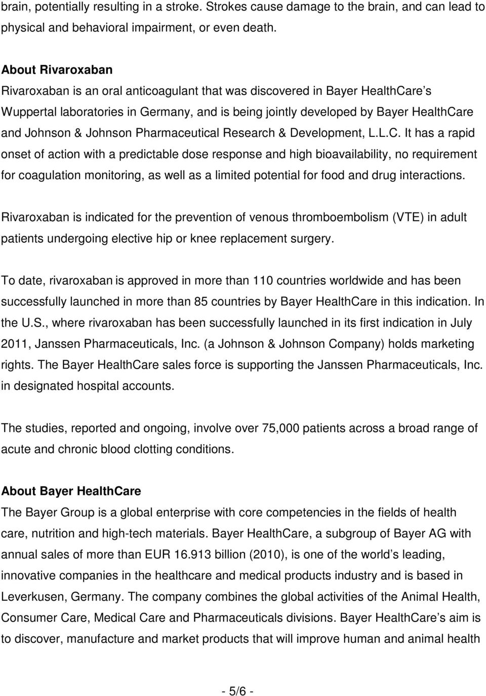 Johnson Pharmaceutical Research & Development, L.L.C.