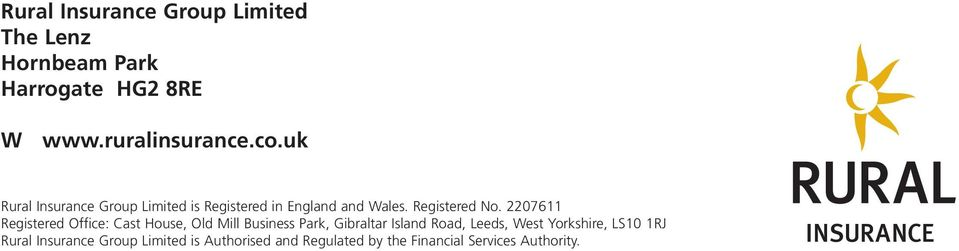 in England and Wales. Registered.