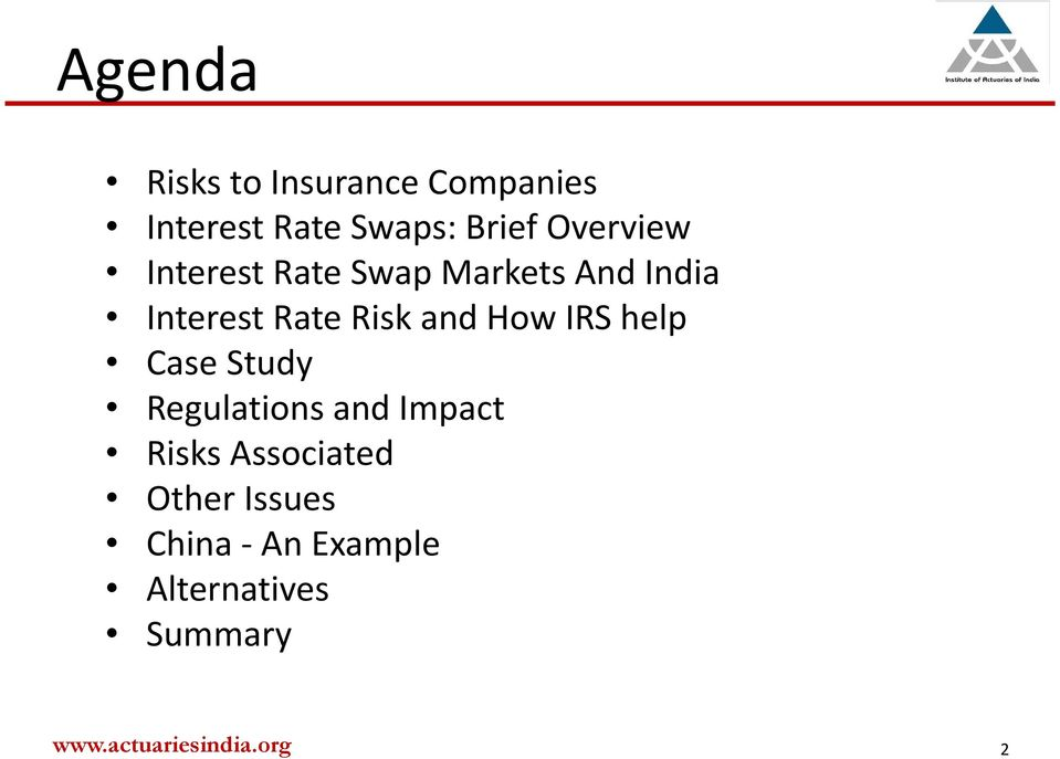 Rate Risk and How IRS help Case Study Regulations and Impact