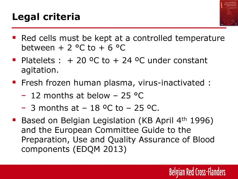 Fresh frozen human plasma, virus-inactivated : 12 months at below 25 C 3 months at 18 ºC to 25 ºC.