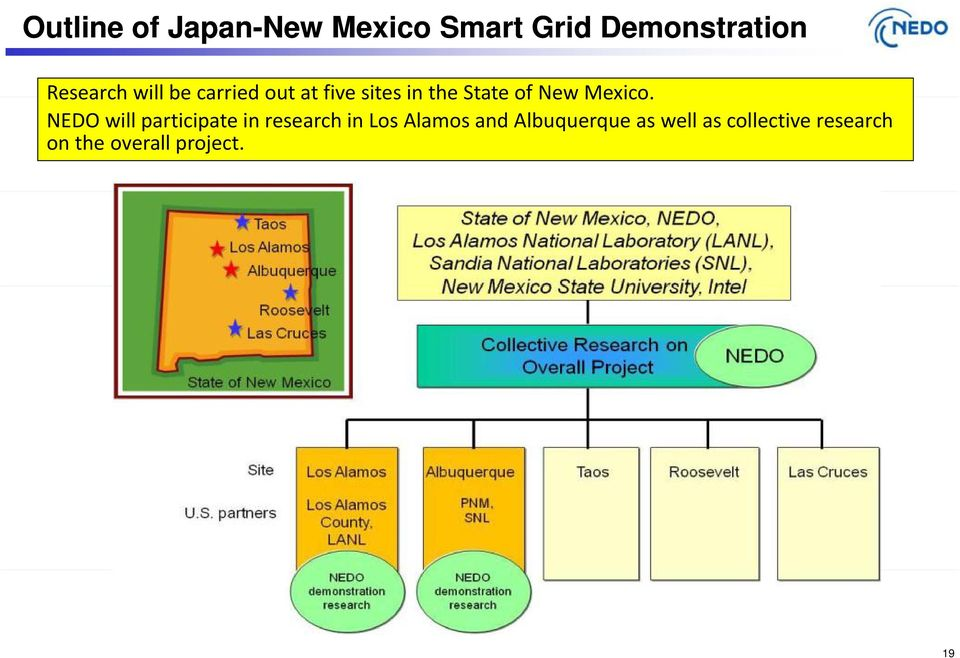 NEDO will participate in research in Los Alamos and
