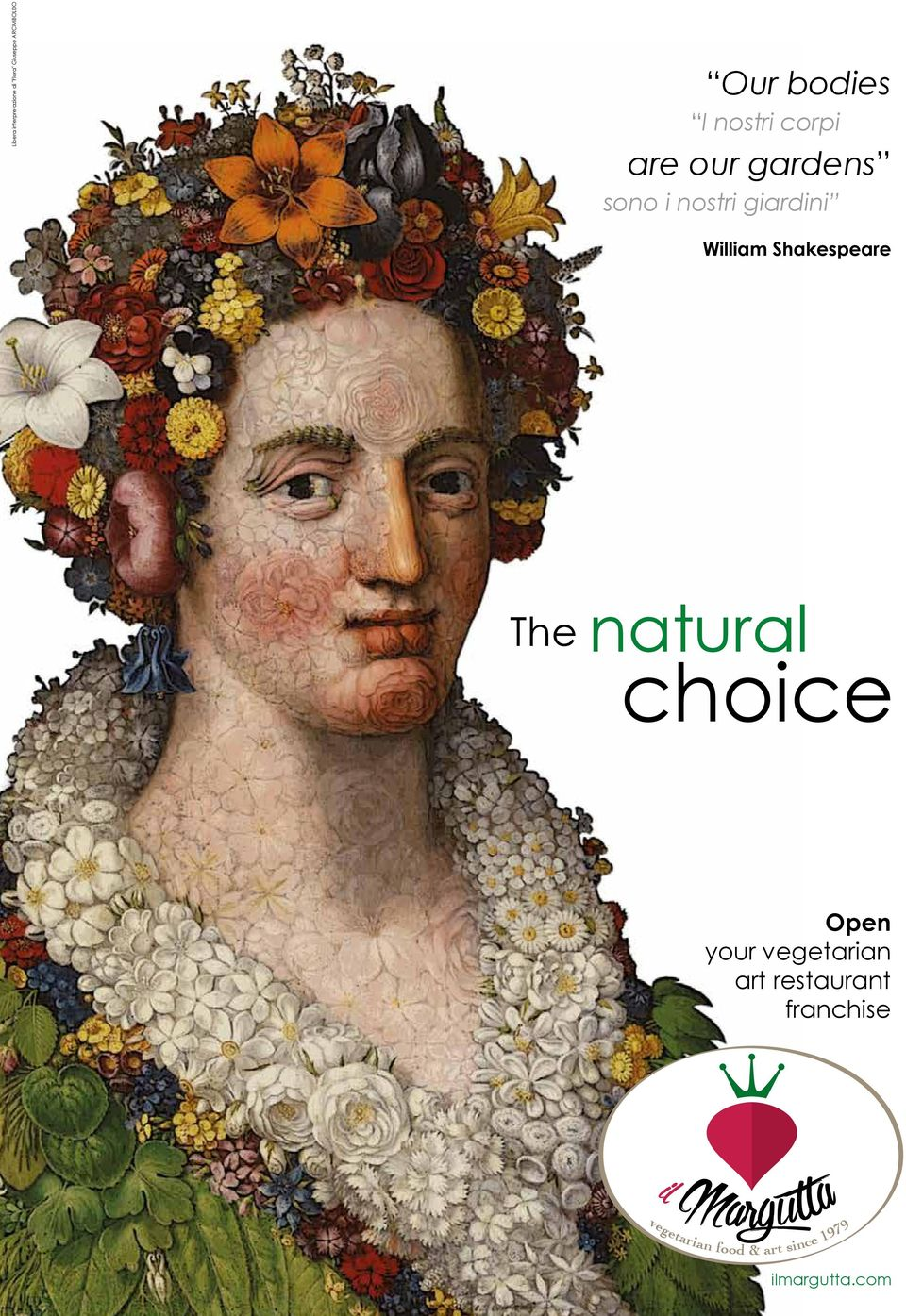 Shakespeare The natural choice Open your vegetarian art