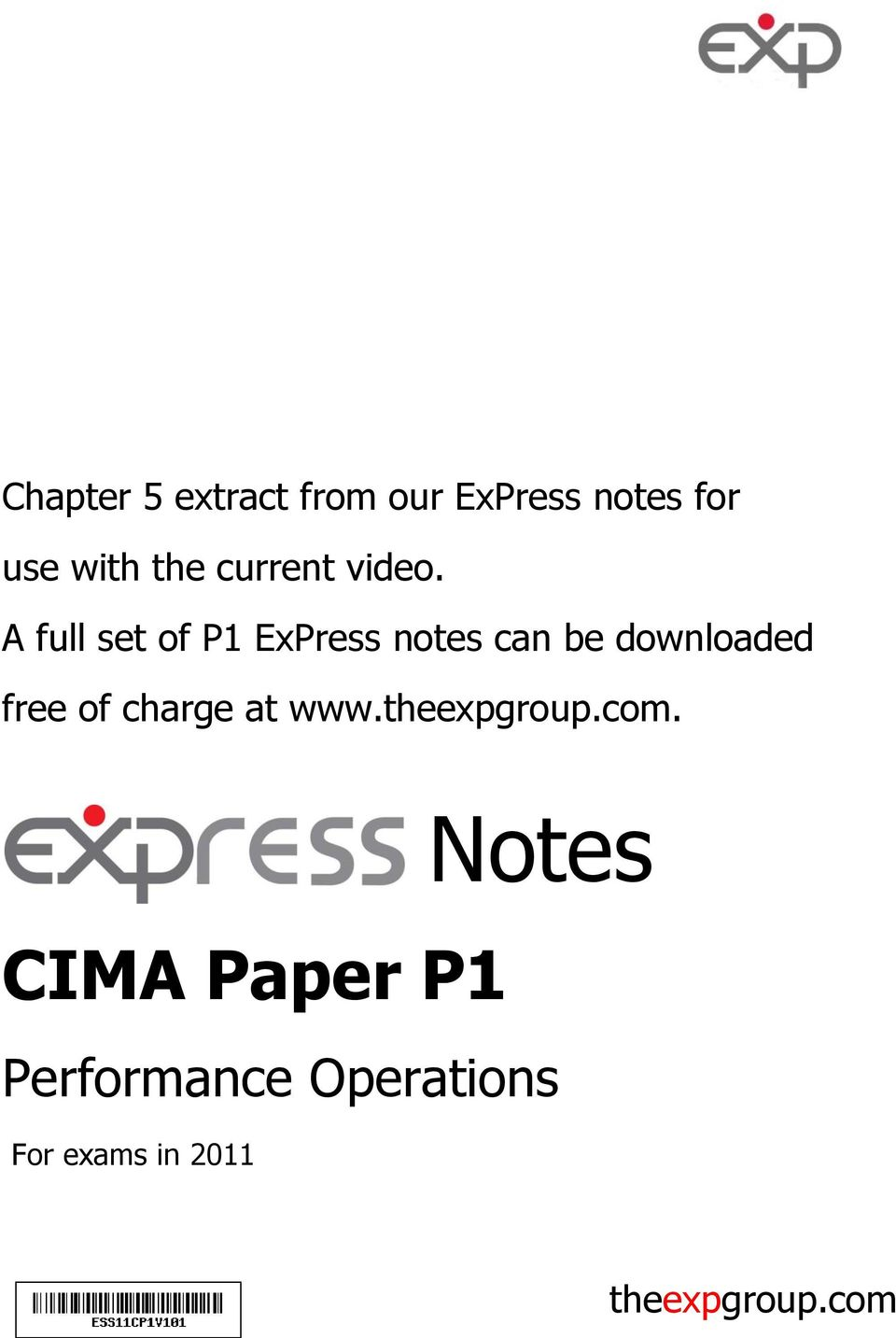 A full set of P1 ExPress notes can be downloaded