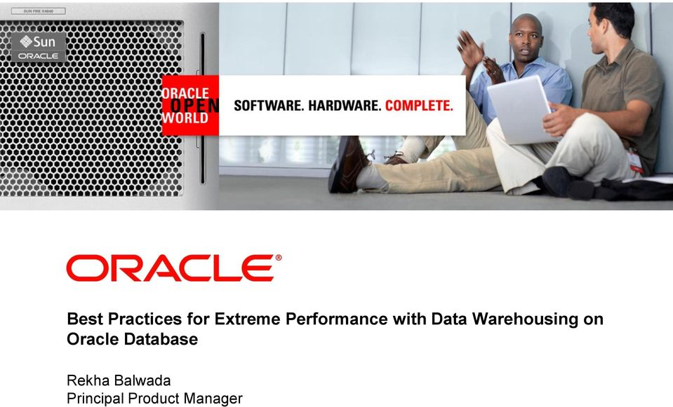 with Data Warehousing on Oracle