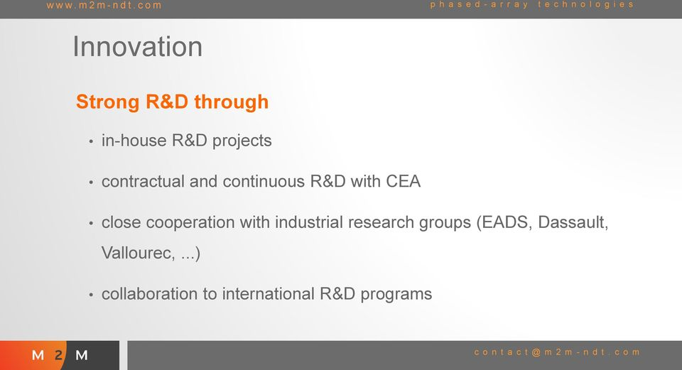 cooperation with industrial research groups (EADS,