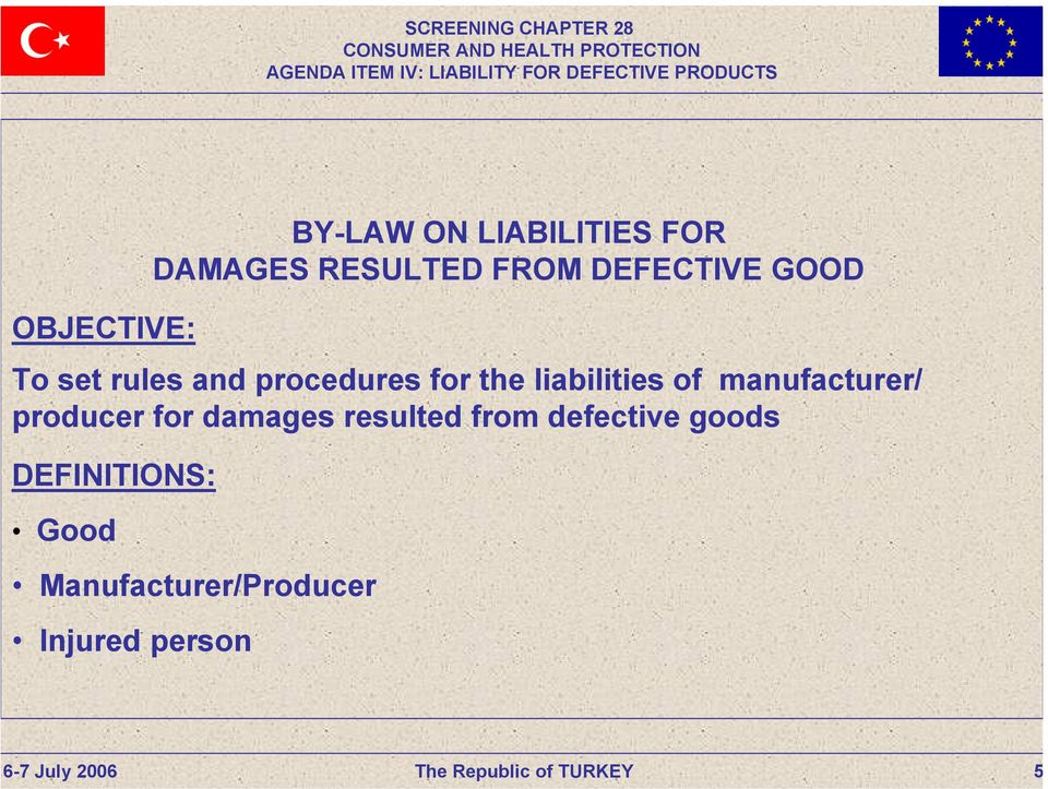 damages resulted from defective goods