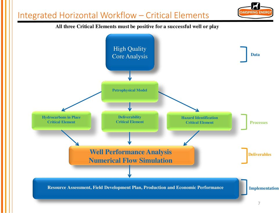 Critical Element Hazard Identification Critical Element Processes Well Performance Analysis Numerical Flow