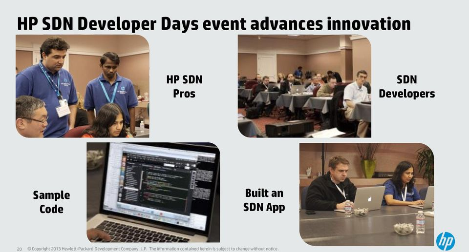 HP SDN Pros SDN Developers