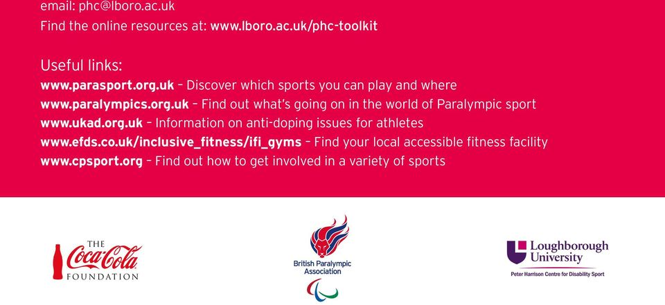 uk Find out what s going on in the world of Paralympic sport www.ukad.org.