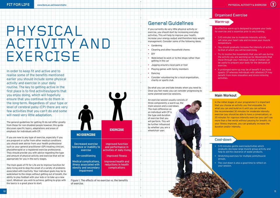 activity and exercise in your daily routine.