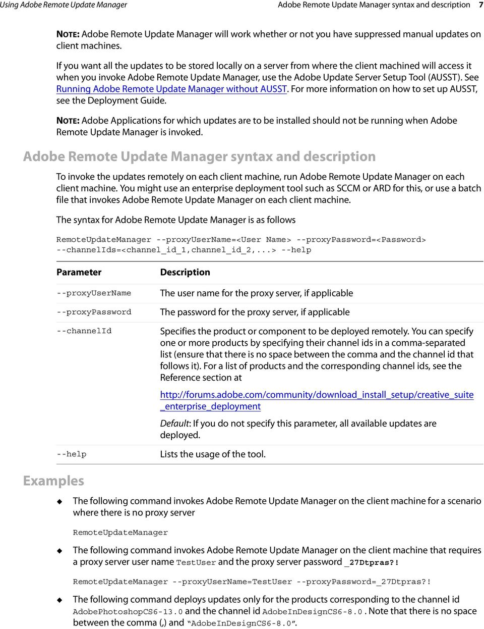 ADOBE REMOTE UPDATE MANAGER TECHNICAL NOTE - PDF
