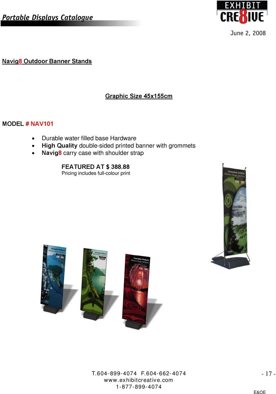 Quality double-sided printed banner with grommets