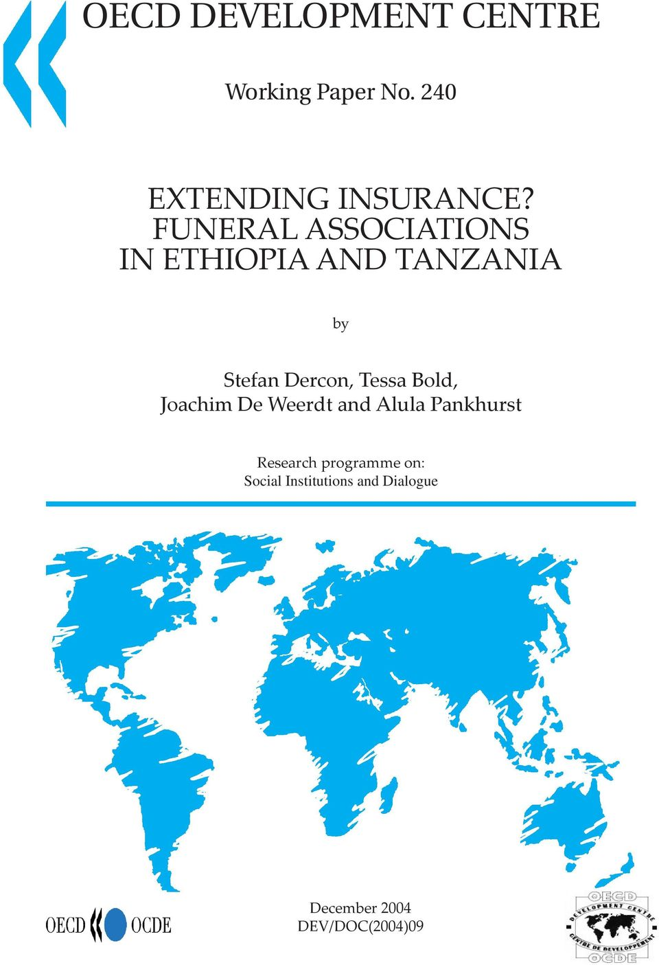 FUNERAL ASSOCIATIONS IN ETHIOPIA AND TANZANIA by Stefan