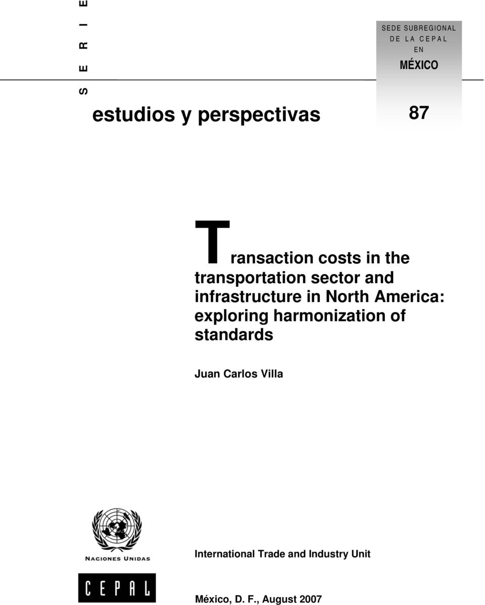 infrastructure in North America: exploring harmonization of standards
