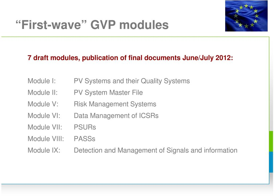 PV Systems and their Quality Systems PV System Master File Risk Management Systems