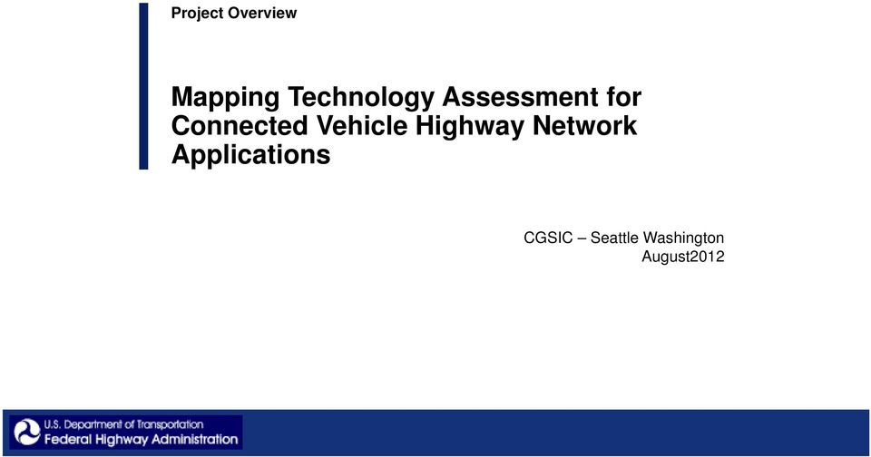 Connected Vehicle Highway Network