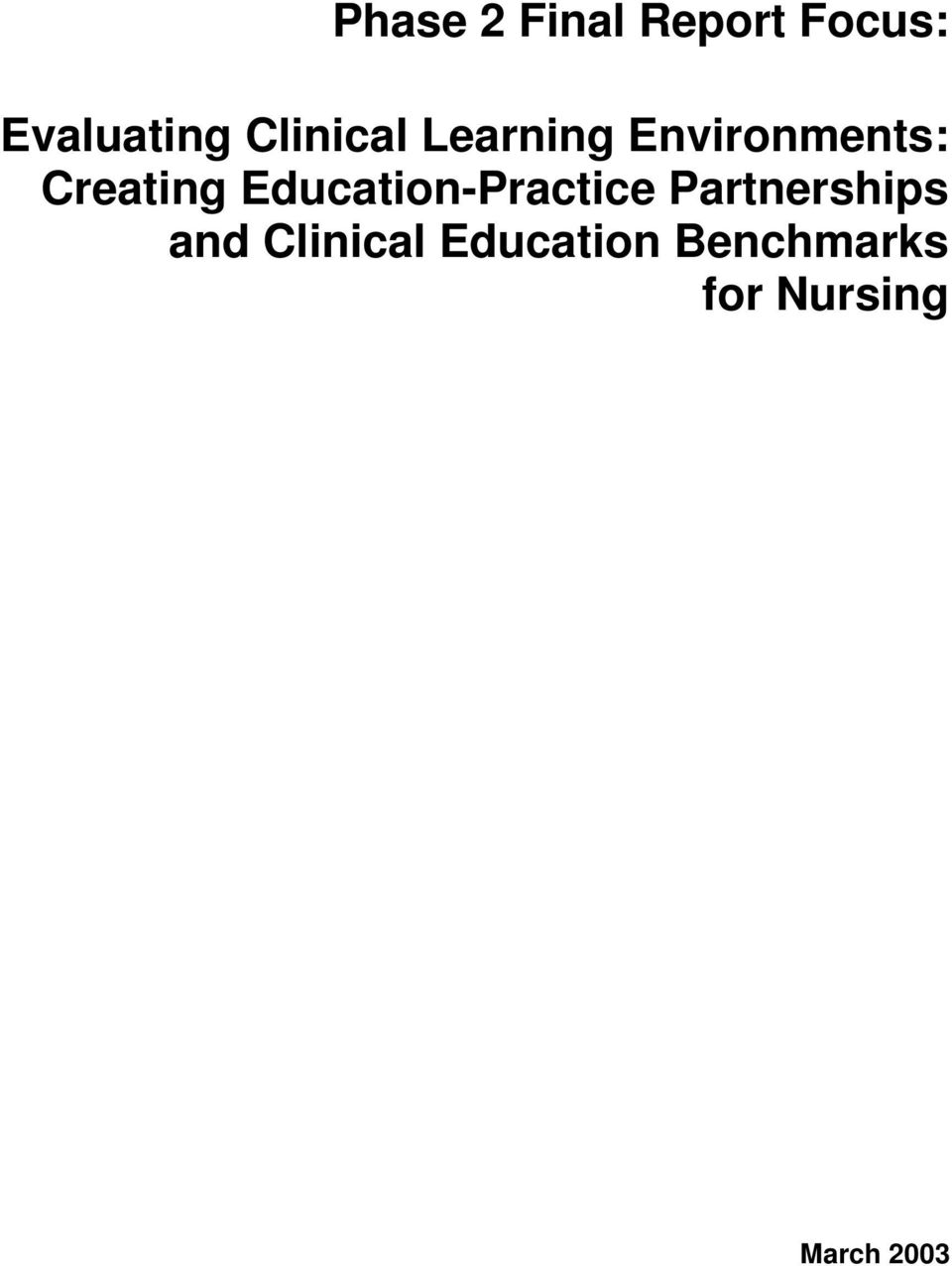 Education-Practice Partnerships and