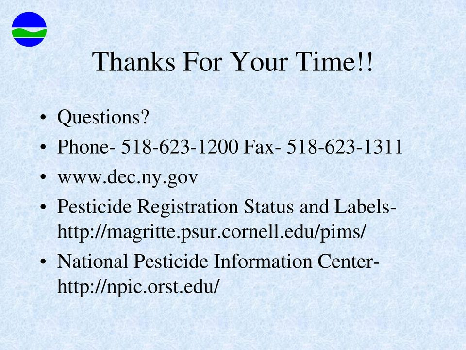 gov Pesticide Registration Status and