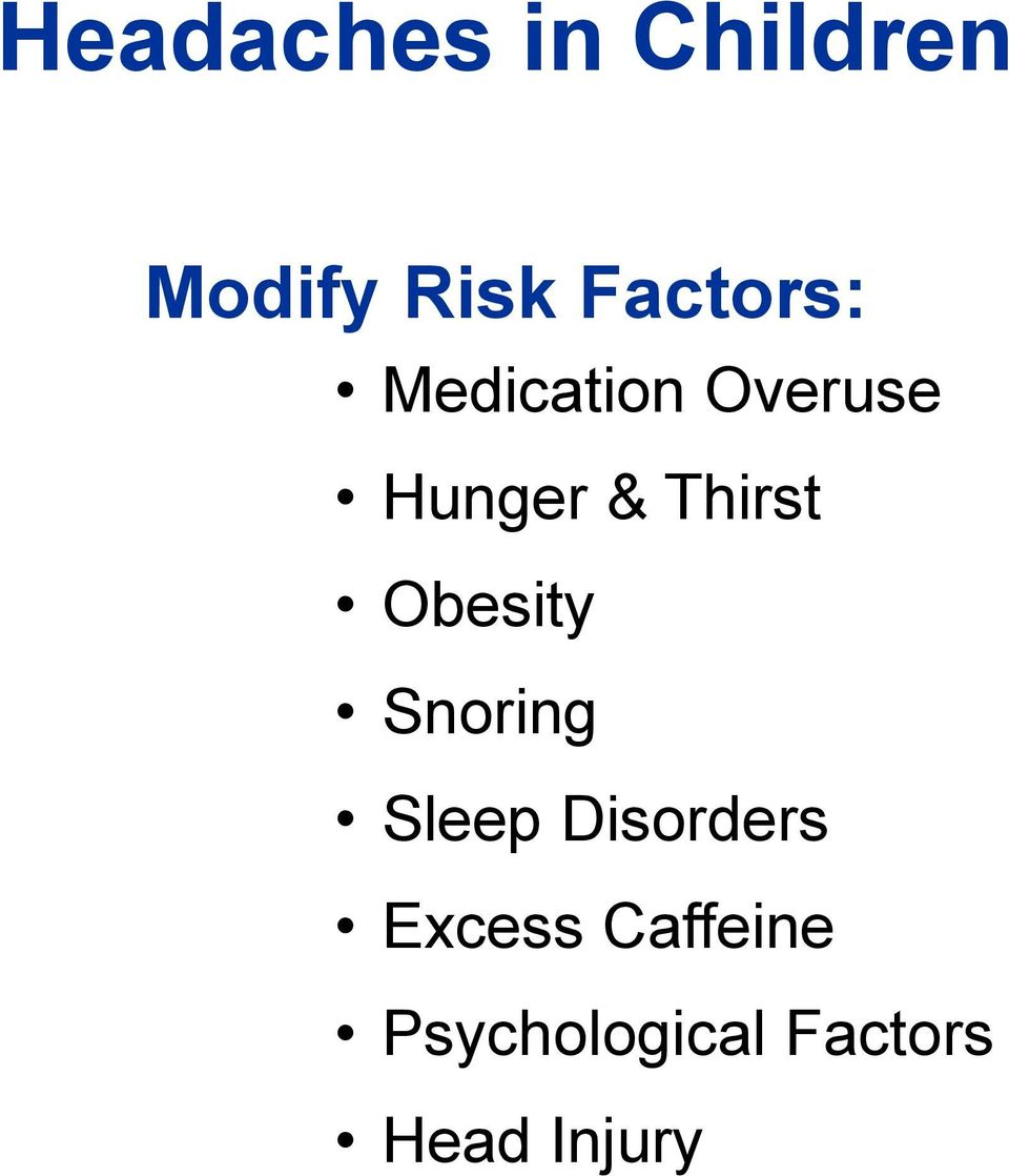 Thirst Obesity Snoring Sleep Disorders