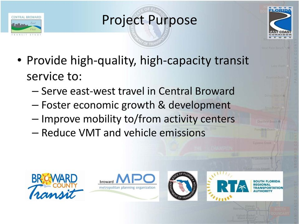travel in Central Broward Foster economic growth & development