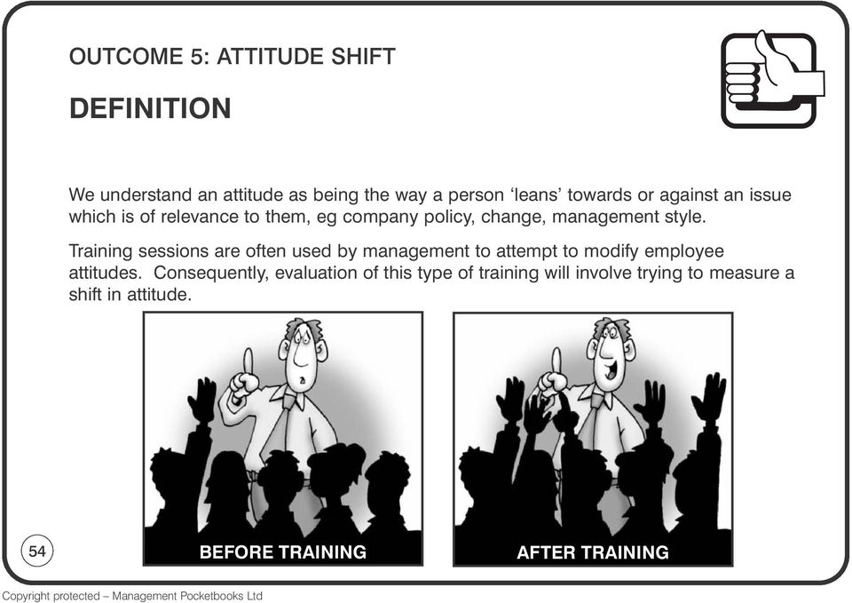 Training sessions are often used by management to attempt to modify employee attitudes.