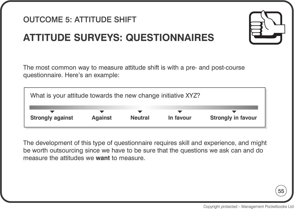Strongly against Against Neutral In favour Strongly in favour The development of this type of questionnaire requires