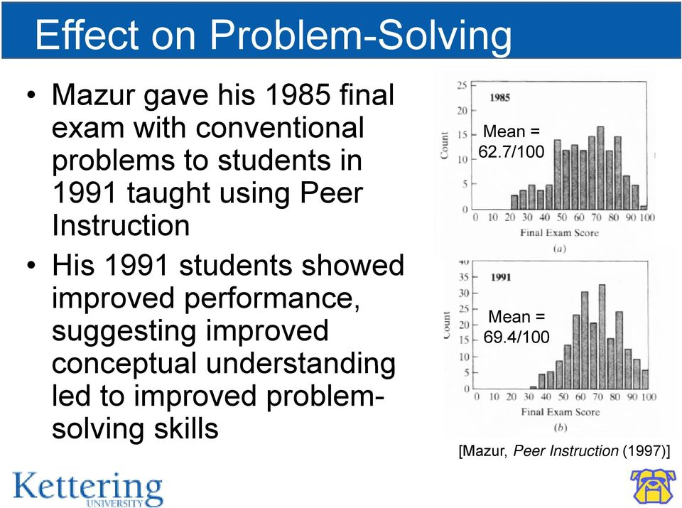 showed improved performance, suggesting improved conceptual understanding led to