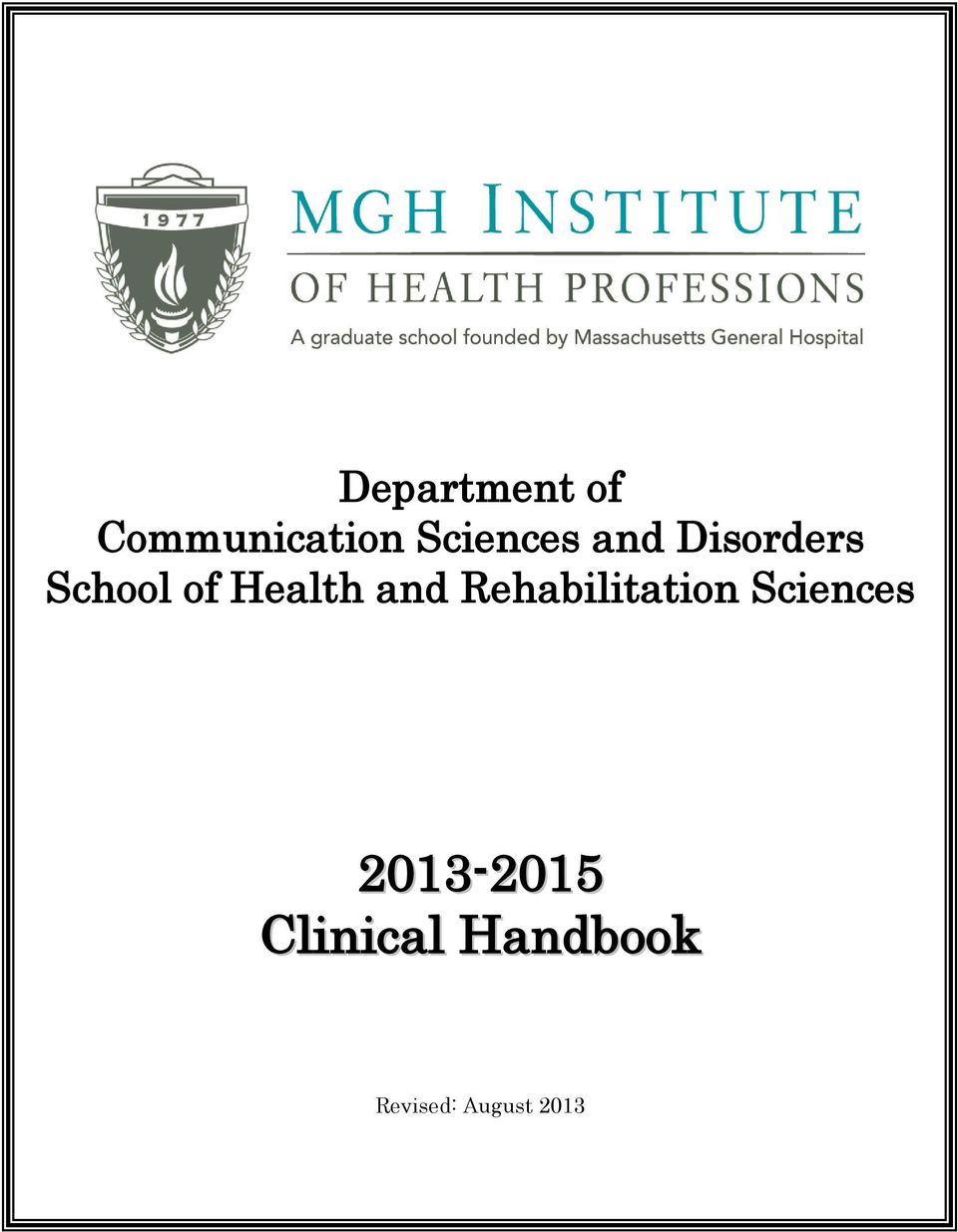 Health and Rehabilitation Sciences