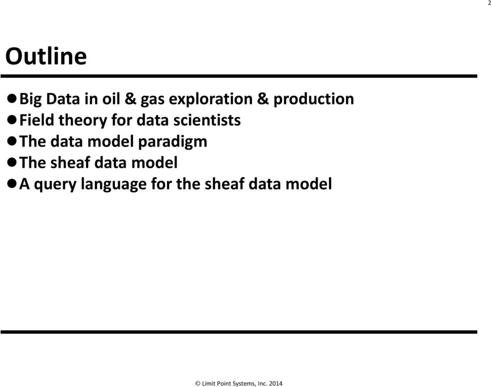 scientists The data model paradigm The