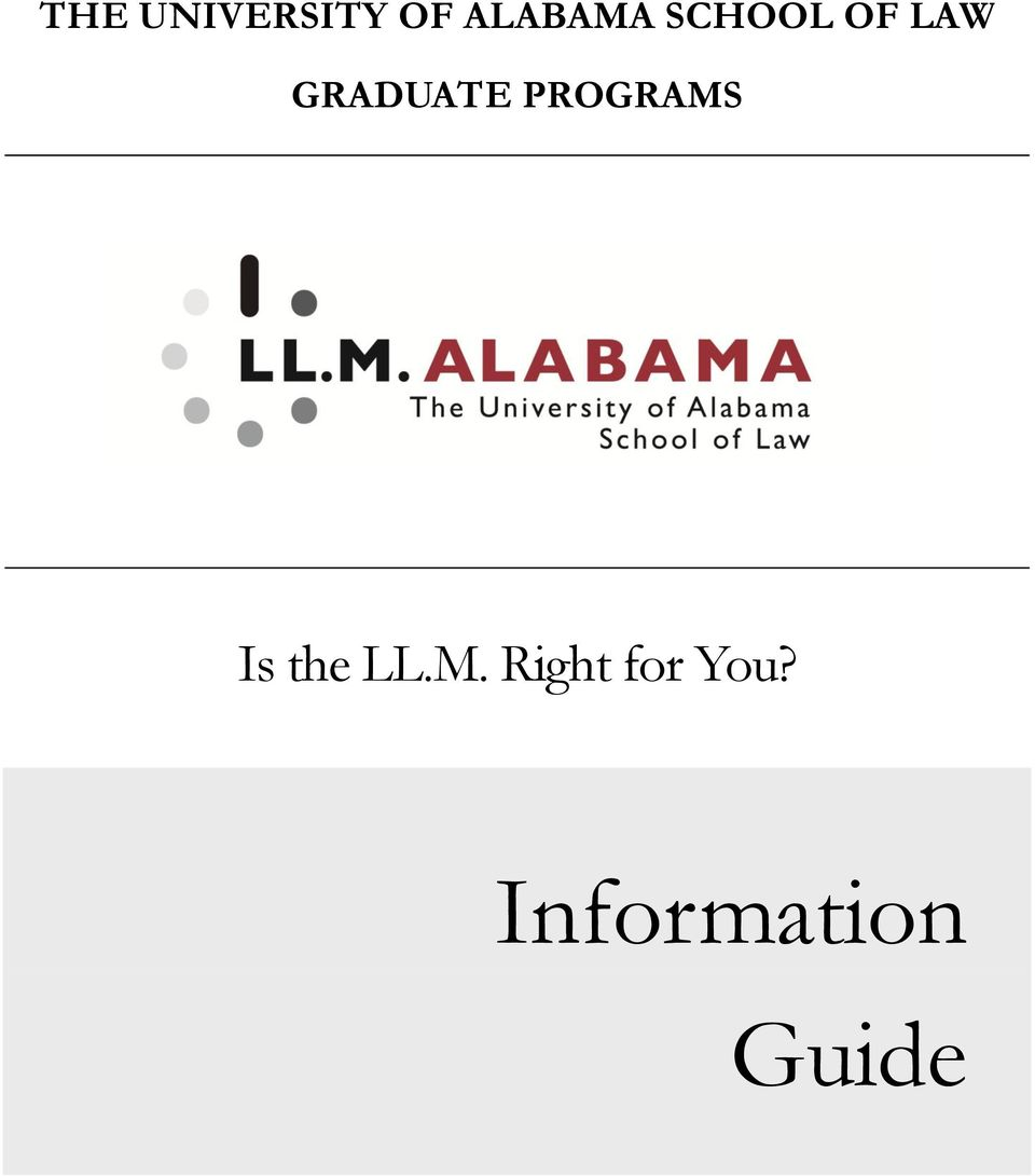 PROGRAMS Is the LL.M. Right for You?