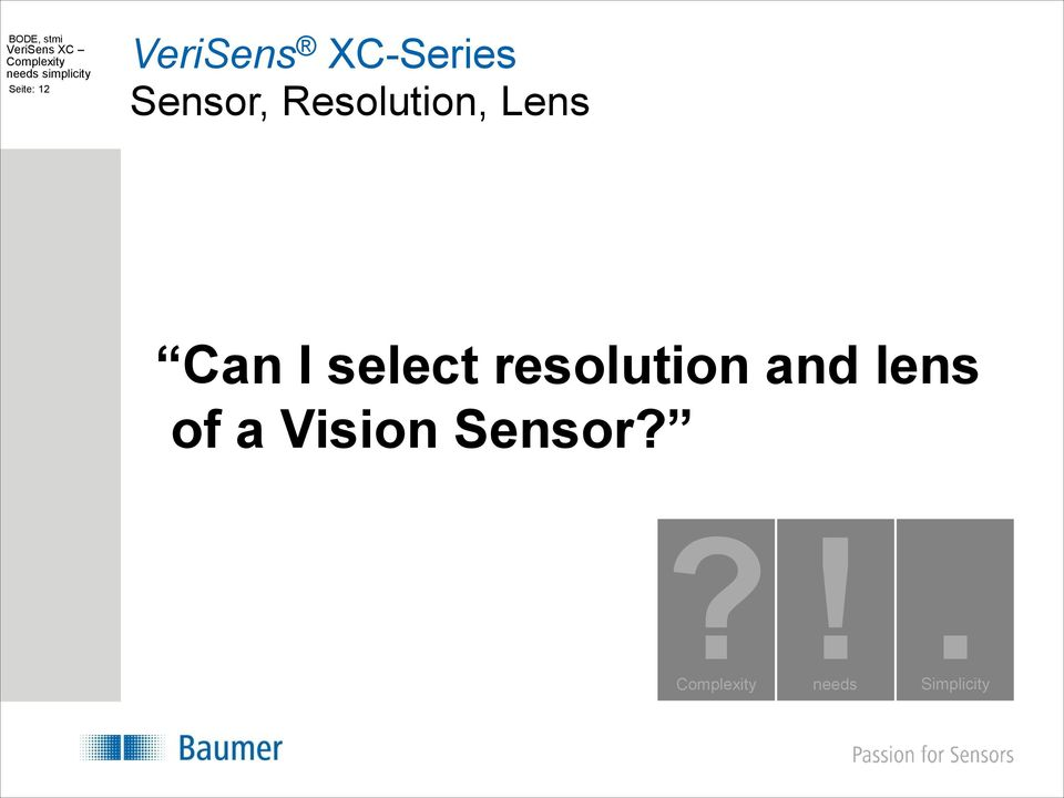 I select resolution