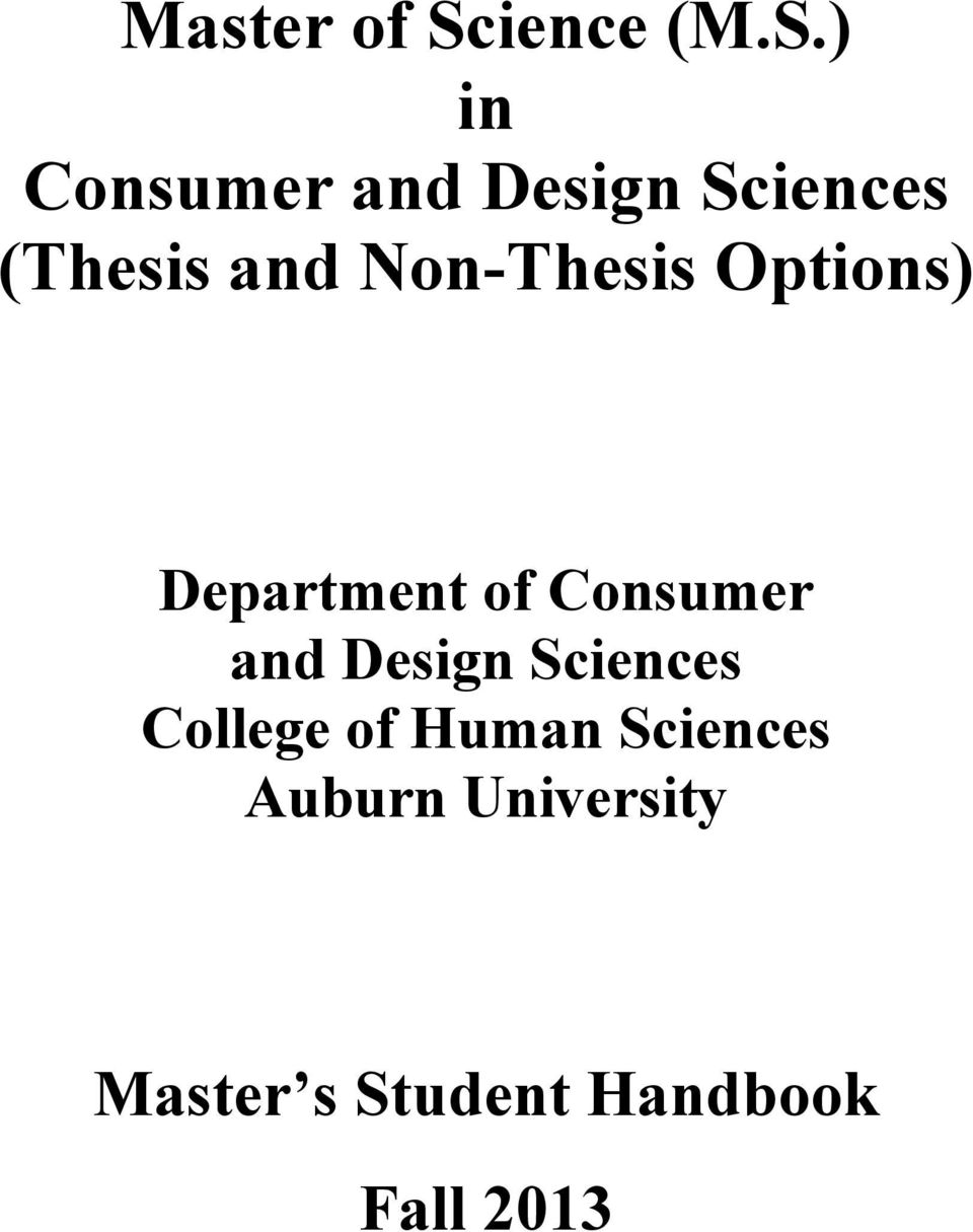 ) in Consumer and Design Sciences (Thesis and