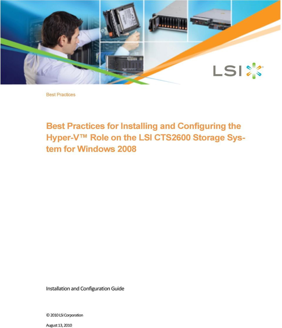 Storage System for Windows 2008 Installation and