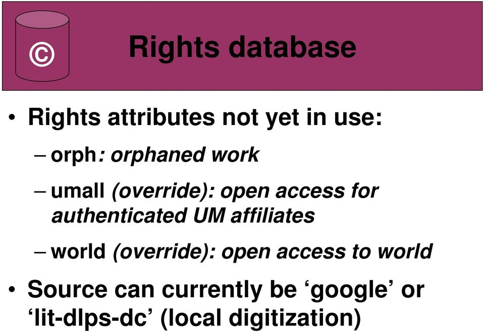 authenticated UM affiliates world (override): open access