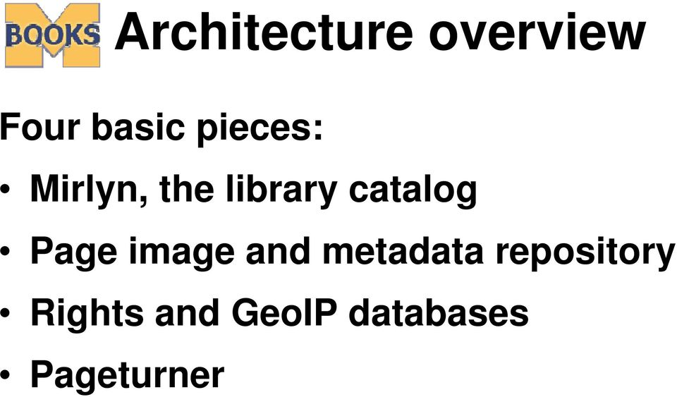 Page image and metadata repository