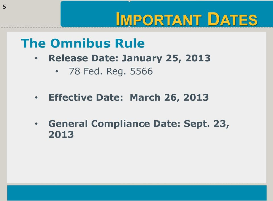 Reg. 5566 Effective Date: March 26,