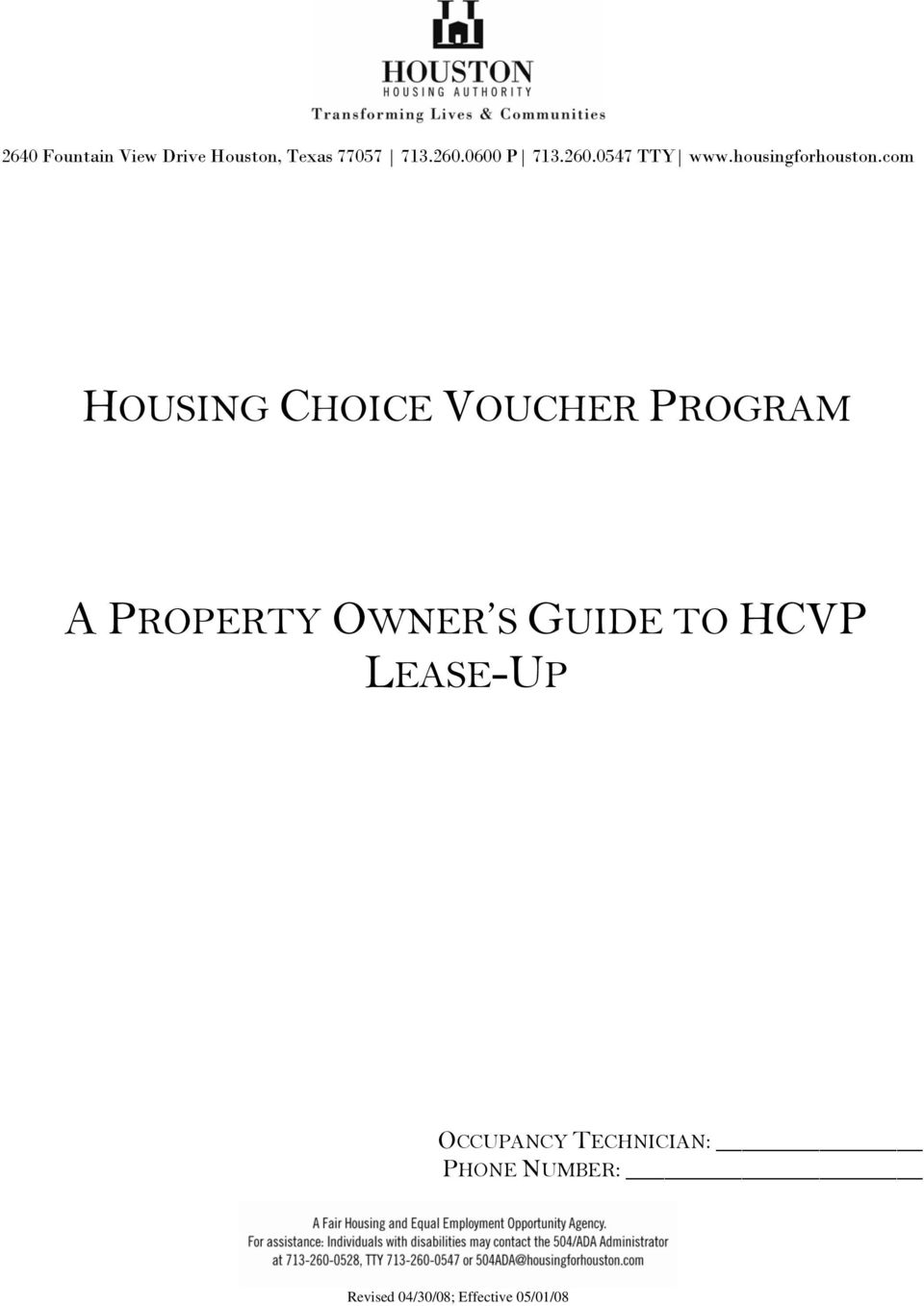 GUIDE TO HCVP LEASE-UP