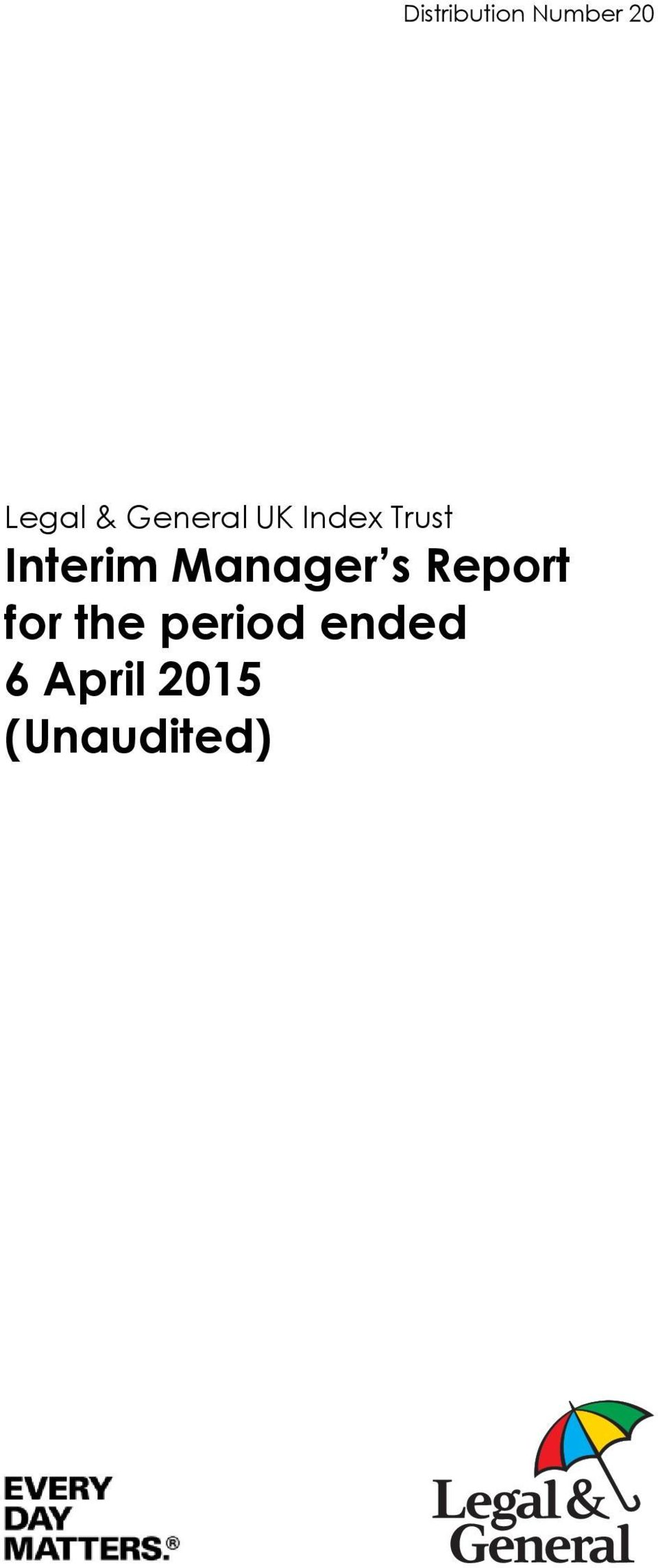 Manager s Report for the