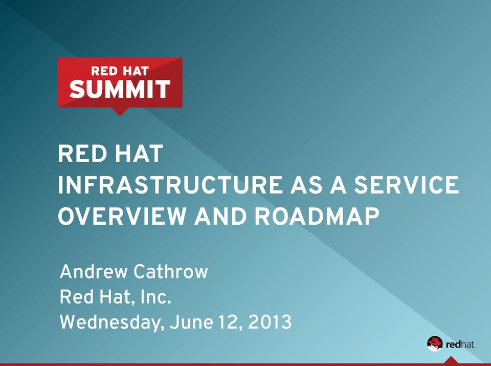 ROADMAP Andrew Cathrow Red