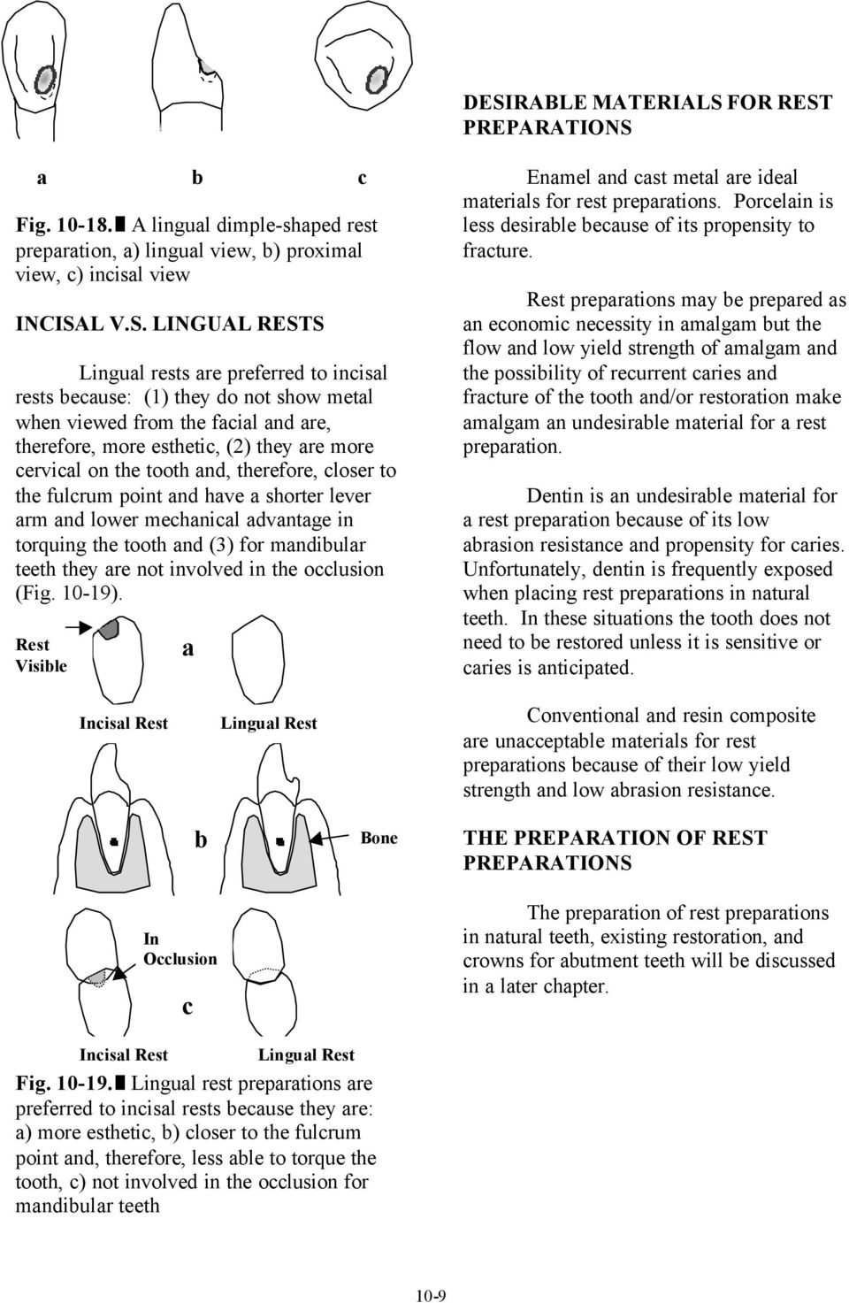 and have a shorter lever arm and lower mechanical advantage in torquing the tooth and (3) for mandibular teeth they are not involved in the occlusion (Fig. 10-19).