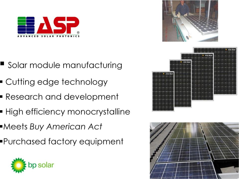 High efficiency monocrystalline Meets