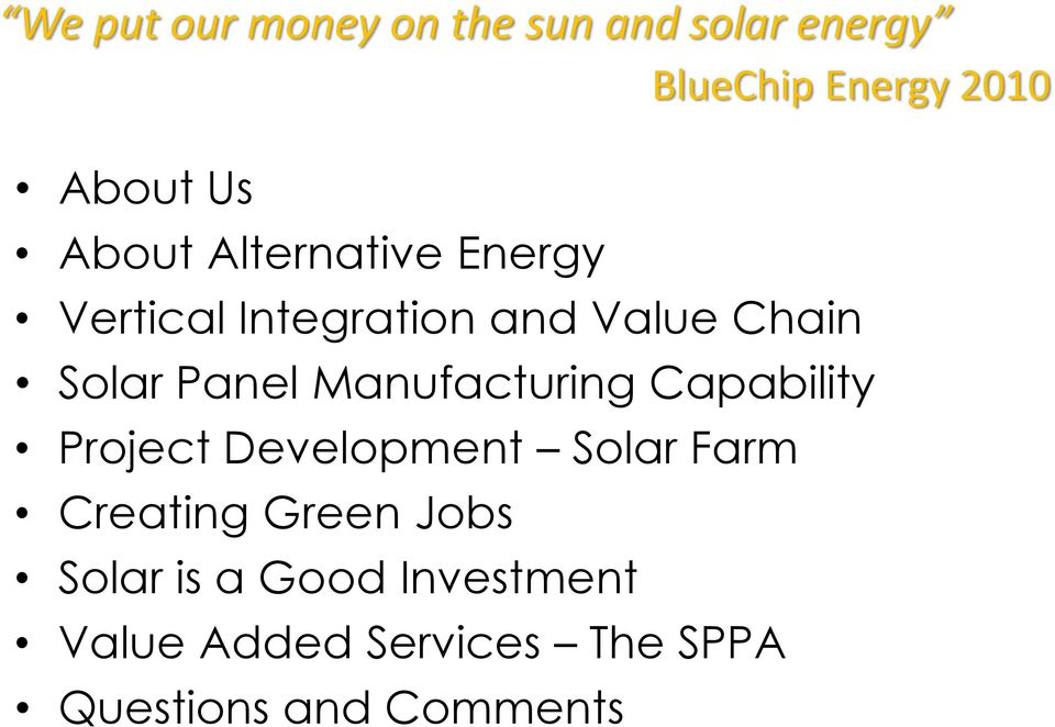 Manufacturing Capability Project Development Solar Farm Creating Green Jobs